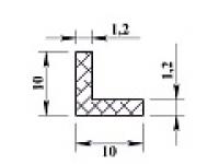 Алюминиевый уголок 10х10х1,2 (2,0м) анодиров