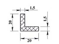 Ал уголок 20х20х1,5 (2,0м) не анодиров
