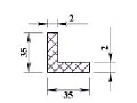 Алюминиевый уголок 35х35х2 (2,0м) не анодиров