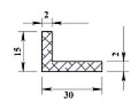 Алюминиевый уголок 30х15х2 (2,0м) не анодиров