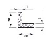 Алюминиевый уголок 20х20х1 (2,0м) анодиров