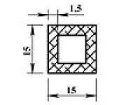 Алюминиевая труба квадр. 15х15х1,5 анодиров