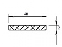 Алюминиевая полоса 40х2 (2,0м)