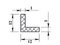 Ал уголок 12х12х1 (2,0м) не анодиров