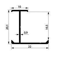 Профиль соединительный. Арт. H 16-17 мм, 3 метра