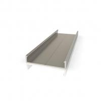 Торцевой алюминиевый профиль П16/4 для плиты 16 мм