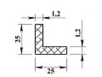 Алюминиевый уголок 25х25х1,2 (2,0м) не анодиров