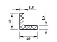 Алюминиевый уголок 40х40х1,8 (2,0м) не анодиров