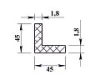Алюминиевый уголок 45х45х1,8 (2,0м) не анодиров