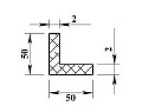 Алюминиевый уголок 50х50х2 (2,0м) не анодиров