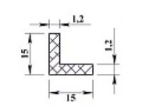 Алюминиевый уголок 15х15х1,2 (2,0м) анодиров