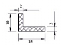 Ал уголок 15х10х2 (2,0м) анодиров
