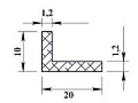 Ал уголок 20х10х1,2 (2,0м) анодиров