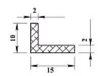 Ал уголок 15х10х2 (2,0м) не анодиров