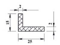 Ал уголок 25х15х2 (2,0м) не анодиров