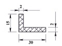 Ал уголок 30х15х2 (2,0м) не анодиров