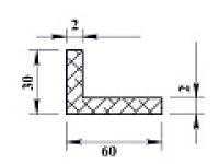 Ал уголок 60х30х2 (2,0м) не анодиров