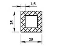 Алюминиевая труба квадр. 25х25х1,5 анодиров