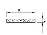 Ал полоса 50х2 (2,0м)