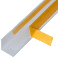 Алюминиевый уголок 20х20х1 (2,0м) Белый Муар Quick Stick