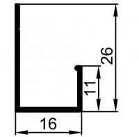"""L"" профиль, 3 метра"