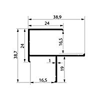 Профиль угловой. Арт. F 16-17 мм, 3 метра