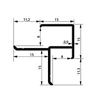 Профиль угловой. Арт. F 8-9 мм, 3 метра