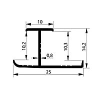 Профиль соединительный. Арт. H 10-11 мм, 3 метра