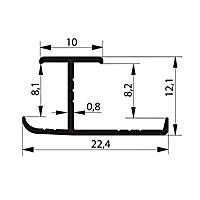 Профиль соединительный. Арт. H 8-9 мм, 3 метра