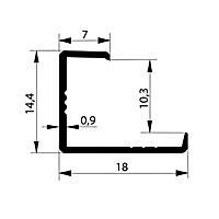 Профиль торцевой. Арт. L 10-11 мм, 3 метра