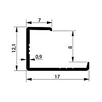 Профиль торцевой. Арт. L8-9 мм, 3 метра